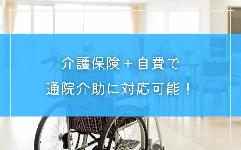 1.介護ヘルパーは介護保険+自費で通院介助に対応可能
