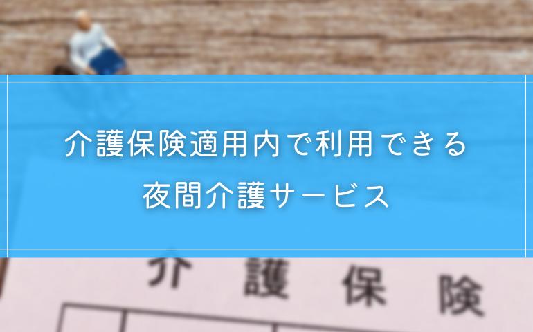 2.【保険内】4つの夜間介護サービス
