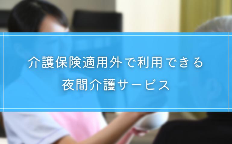 3.【保険外】2つの夜間介護サービス
